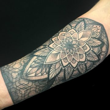 Petra-mandala-arm-primitive-tattoo