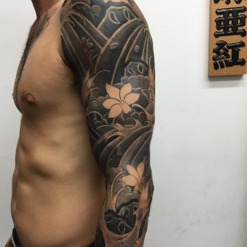 marc-pinto-primitive-tattoo-perth-great-snake-tradtional-colour-ink-tattooinspiration-deisgn-creative-artist-jap-waves-cherry-blossoms-flowers-1-e1461306503876
