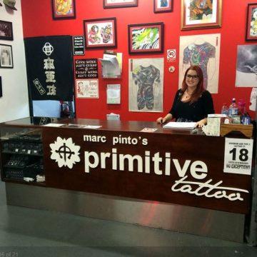 Primitive tattoo front desk