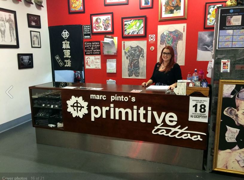 Primitive tattoo front desk