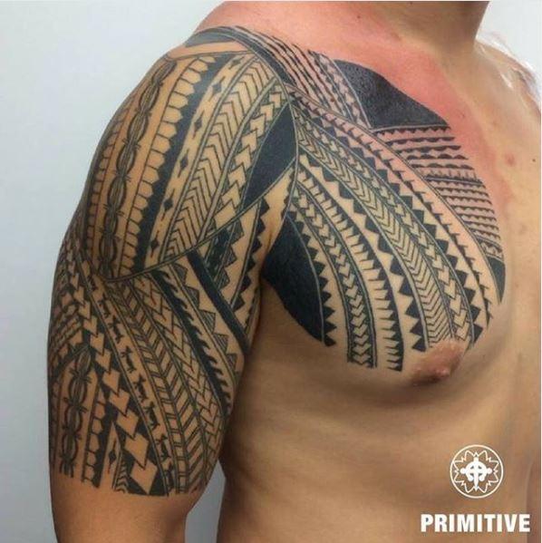 Polynesian tattoo by Primitive tattoo