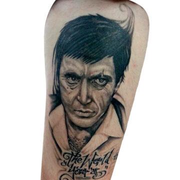 Damien primitive tattoo tribal best tattoo shop studio in perth realism portrait script www.primitivetattoo.com.au.JPG1
