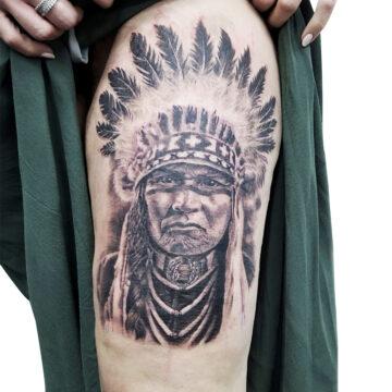 Erick primitive tattoo best tattoo shop studio in perth realism portrait script watercolour www.primitivetattoo.com.au49