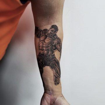Erick primitive tattoo tribal best tattoo shop studio in perth realism portrait script www.primitivetattoo.com.au1