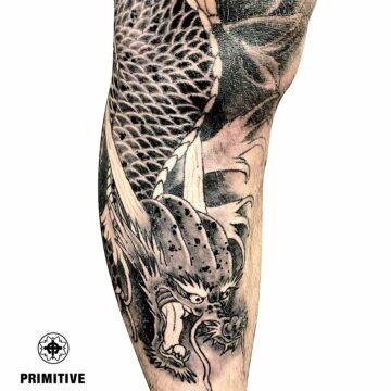 Marc Pinto Best Japanese Tattooo in perth Koi Dragon geisha samurai tattoo. www.primitivetattoo.com.au246