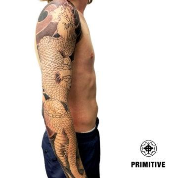 Marc Pinto Best Japanese Tattooo in perth Koi Dragon geisha samurai tattoo. www.primitivetattoo.com.au275