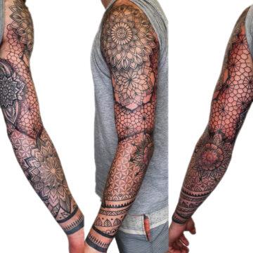 Petra Mandala Geometry geometric tattoo floral sternum hand femals tattoo primitive tattoo tribal best tattoo shop studio in perth script www.primitivetattoo.com.au12