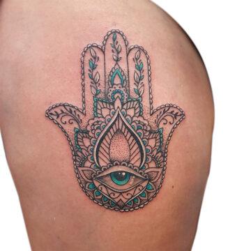 Petra Mandala Geometry geometric tattoo floral sternum hand femals tattoo primitive tattoo tribal best tattoo shop studio in perth script www.primitivetattoo.com.au17