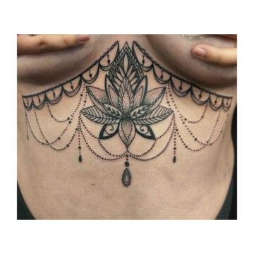 Petra Mandala Geometry geometric tattoo floral sternum hand femals tattoo primitive tattoo tribal best tattoo shop studio in perth script www.primitivetattoo.com.au1