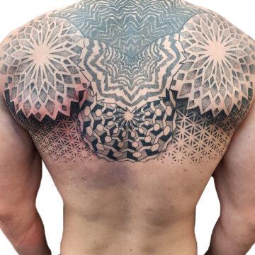 Petra Mandala Geometry geometric tattoo floral sternum hand femals tattoo primitive tattoo tribal best tattoo shop studio in perth script www.primitivetattoo.com.au20