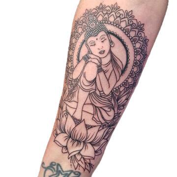 Petra Mandala Geometry geometric tattoo floral sternum hand femals tattoo primitive tattoo tribal best tattoo shop studio in perth script www.primitivetattoo.com.au22