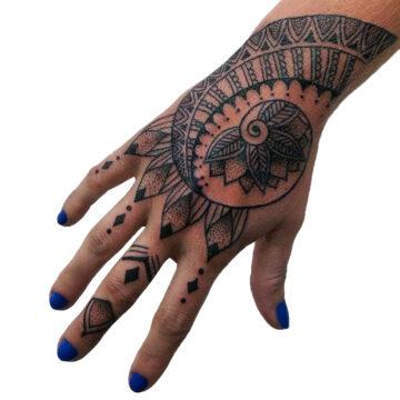 Petra Mandala Geometry geometric tattoo floral sternum hand femals tattoo primitive tattoo tribal best tattoo shop studio in perth script www.primitivetattoo.com.au3
