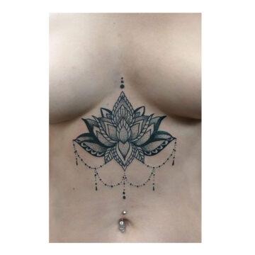 Petra Mandala Geometry geometric tattoo floral sternum hand femals tattoo primitive tattoo tribal best tattoo shop studio in perth script www.primitivetattoo.com.au4