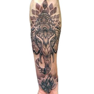 Petra Mandala Geometry geometric tattoo floral sternum hand femals tattoo primitive tattoo tribal best tattoo shop studio in perth script www.primitivetattoo.com.au9